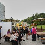 Community building patio